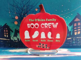 Boo Crew Ghost Family Pumpkin Plaque